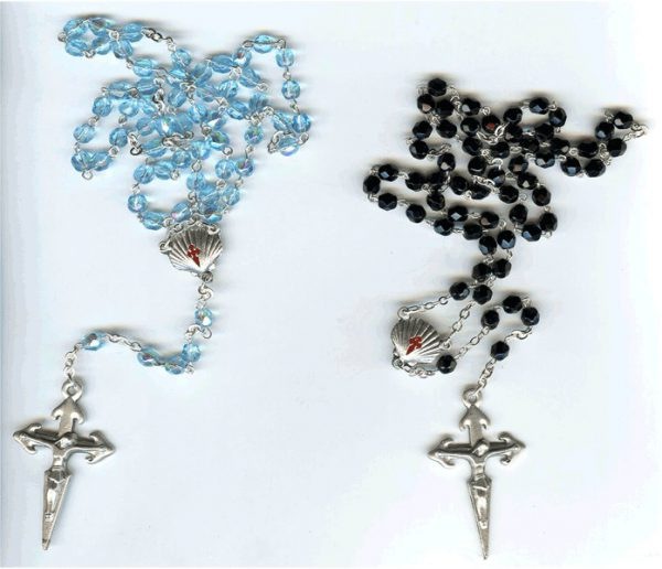 rosario de cristal con motivos Jacobeos