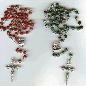 rosario de cristal pintado PQ jacobeo