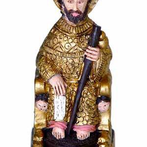 Figura apostol sentado dorado GR