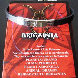Pulsera Brigantia acero-láser