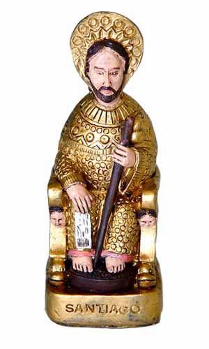 Figura Apóstol sentado dorado PQ