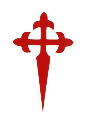Pegatina Cruz de Santiago