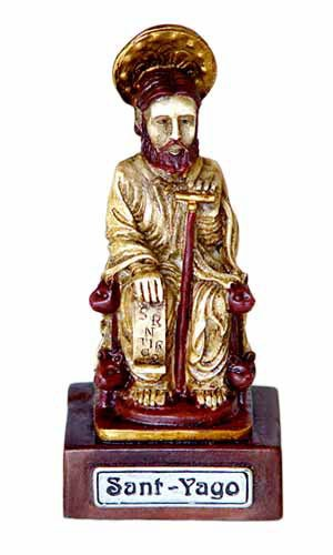 Figura del Apóstol sentado.