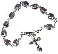 Pulsera rosario de cristal doble copa