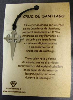 Cruz de Santiago en acero inox.