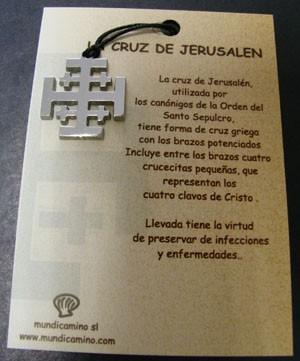 Cruz de Jerusalén en acero inox