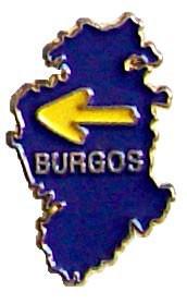 Pin mapa de Burgos con flecha amarilla