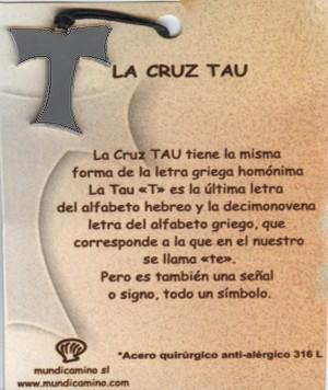 Cruz Tau en acero inox.