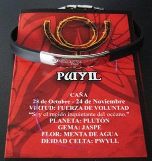 Pulsera Pwyil de acero-láser