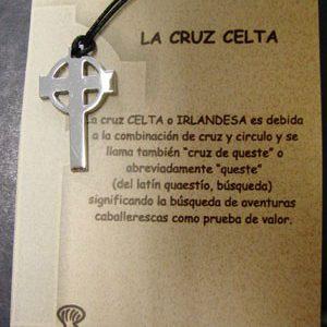 Cruz Celta en acero inox.