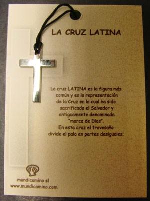 Cruz Latina en acero inox.