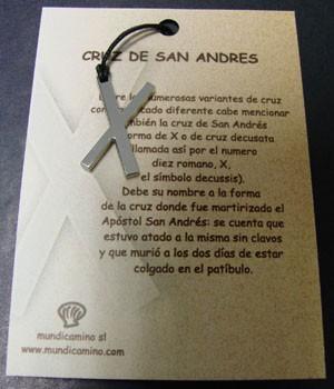 Cruz de San Andrés en acero inox.