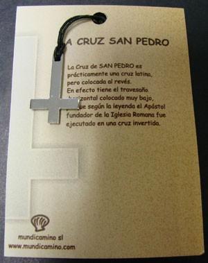 Cruz de San Pedro en acero inox