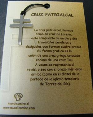 Cruz Patriarcal en acero inox.
