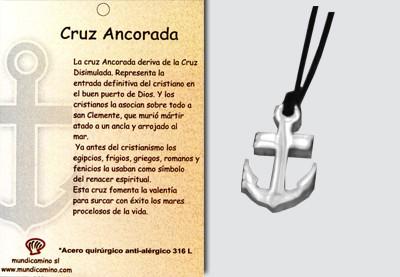 Cruz Ancorada en acero inox.