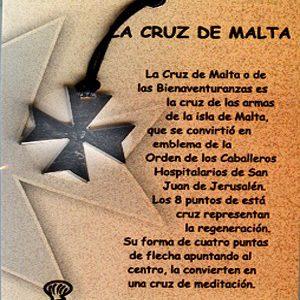 Cruz de Malta en acero inox.