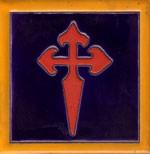 azulejo cruz de Santiago 11x11