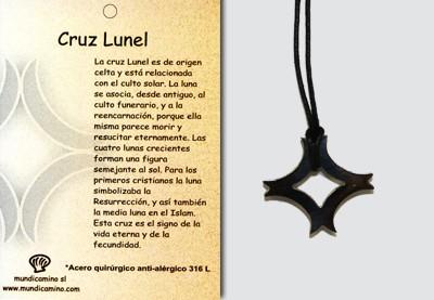 Cruz Lunel en acero inox.