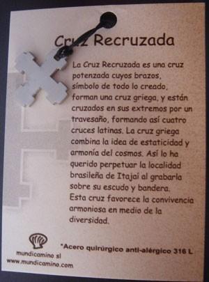 Cruz Recruzada en acero inox.