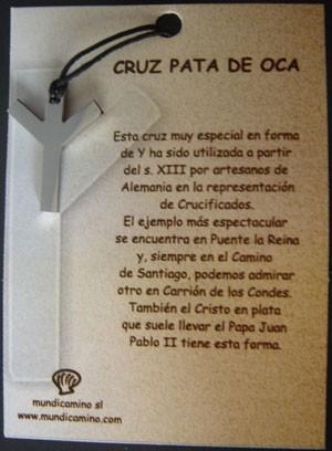 Cruz Pata de Oca en acero inox.