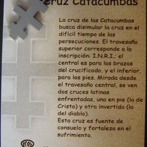 Cruz de las Catacumbas en acero inox.