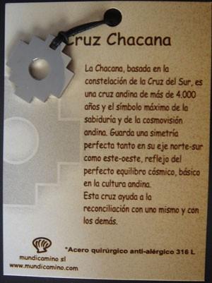 Cruz Chacana en acero inox.