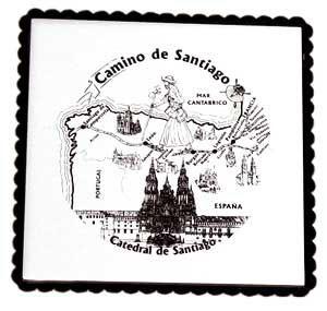 Azulejo con soporte Camino de Santiago