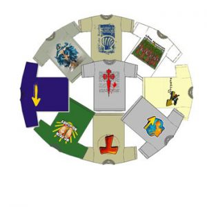 Lote de 4 Camisetas del Camino (España)