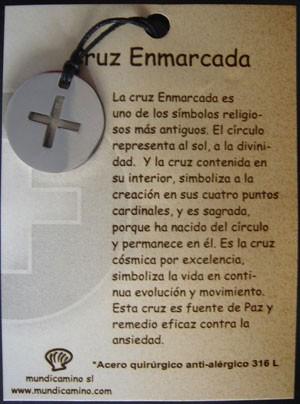 Cruz Enmarcada en acero inox.
