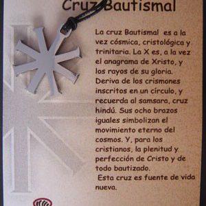 Cruz Bautismal en acero inox.