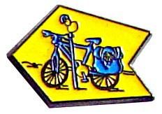 Pin Flecha y bici