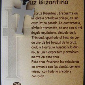 Cruz Bizantina en acero inox.