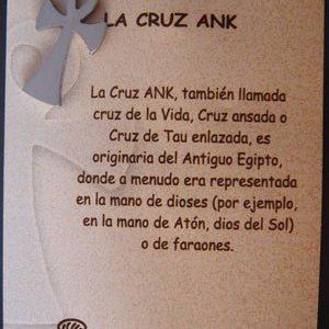 Cruz Ank en acero inox.