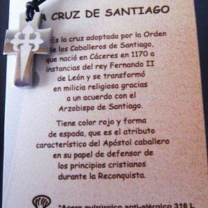 Cruz acero Cruz de Santiago laseada