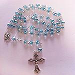 Fantastico rosario de cristal azul