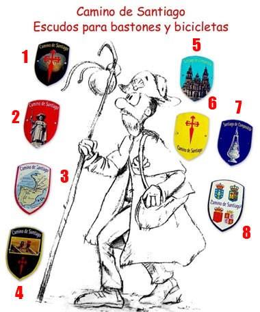 Símbolos en escudo metálico