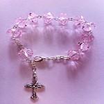 Pulsera rosario cristal de un misterio.