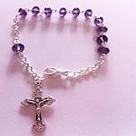 Pulsera rosario de un misterio cristal
