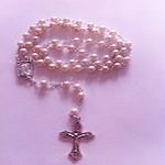 Rosario Imit. Perla de 5 mm.