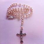 Rosario Imit. perla de 6 mm.
