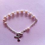 Rosario pulsera de un misterio perlas