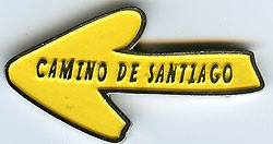 Iman metálico motivo Flecha Amarilla